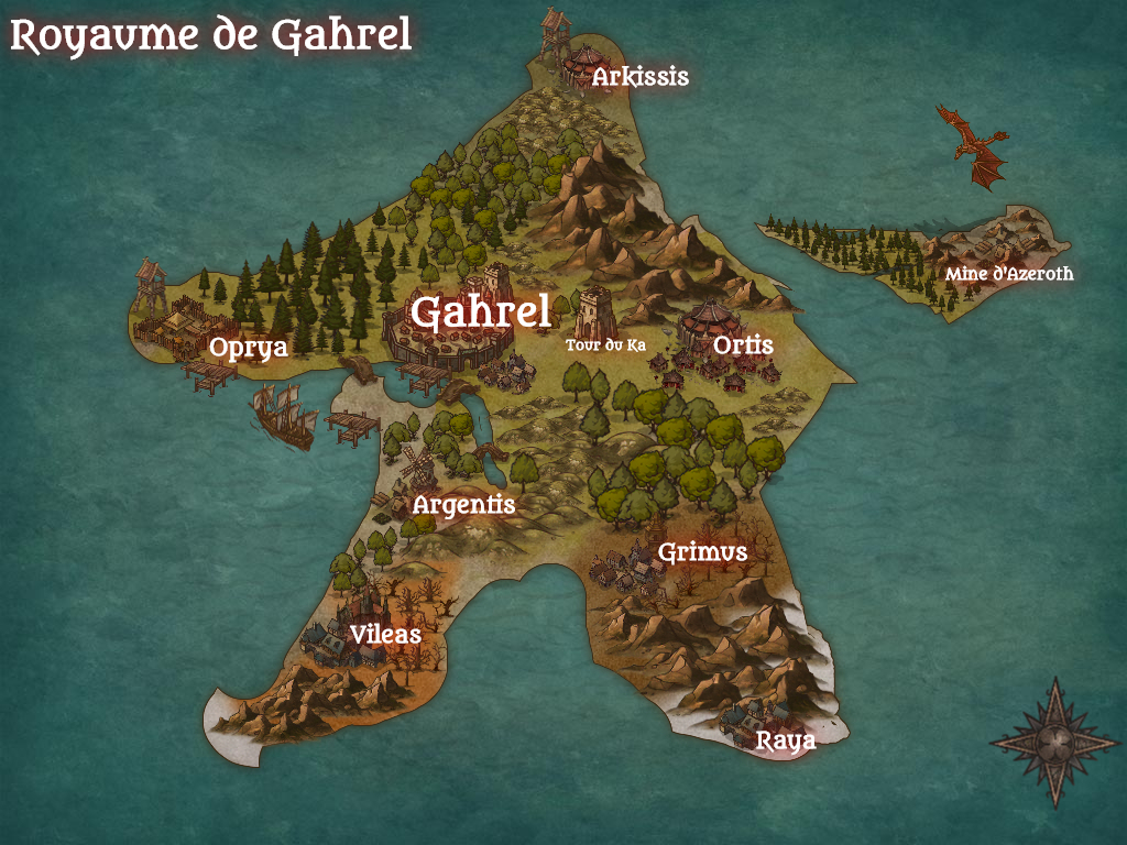 Royaume de Gahrel. Map